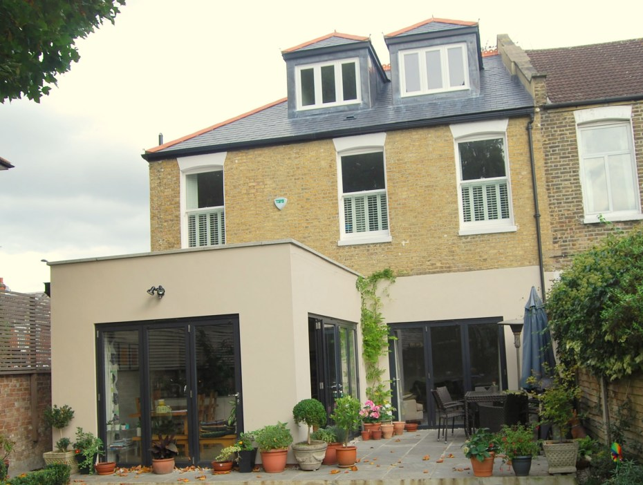 Loft conversion and ground floor extension image